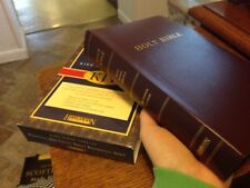 KJV BIBLE Personal Size GIANT PRINT Reference Hendrickson Burgundy Imit. Leather
