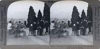 Italia Roma Foto Stereo Vintage Analogica Argento Print