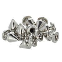 10x Kupfer 8*12mm Silber Killernieten Spitz Nieten Punk Ziernieten Schraubn I1C4