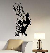 Deadpool Wall Decal Vinyl Sticker Comics Superhero Art Home Kids Room Decor dpl1