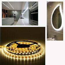 2m LED Tira de Luz del Gabinete Blanco Cálido 120 LED Luz de cinta 12v LED 9.6w Impermeable