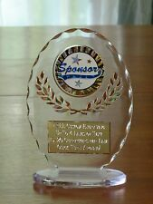 "Sponsor Appreciation 6 1/2"" Acrylic Award Trophy FREE engraving"