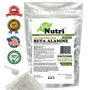 Beta Alanine Unflavored 2.2lb (1000g) 100% Pure Powder 500 Servings KOSHER