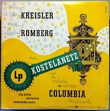 ANDRE KOSTELANETZ music of kreisler & romberg LP VG ML 4253 Alex Steinweiss 1950
