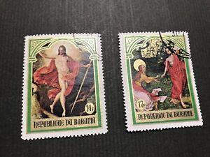 Burundi, 1969 Easter Paintings, Resurrection. Stanley Gibbons BI 435 & 436 . XF