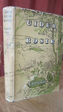CIDER WITH ROSIE by LAURIE LEE 1959 Dust Jacket ILLUSTRATED HOGARTH PRESS