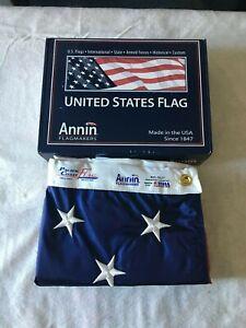5x8 Annin American Flag Solar Max nylon (Nyl-Glo) Made in the USA (002270)