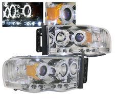 2002-2005 DODGE RAM 1500/2003-2005 2500 3500 CHROME PROJECTOR HALO LED HEADLIGHT