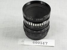AMPEX VIDICON 25mm 1:1.9 C MOUNT LENS EXCELLENT