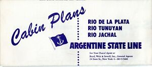 1958 Argentine State Line Deck Plan w/ Photos - NAUTIQUES sHiPs WORLDWIDE