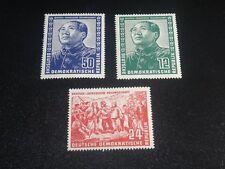 GERMANY DDR 1951 Sc#82-84 China Mao Tse Tung Set MNH-XF SCV$325