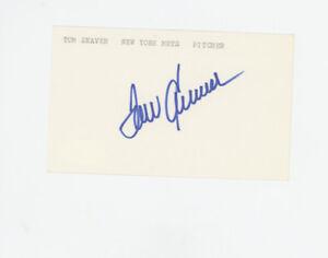 Tom Seaver  New York Mets signed 3x5 index card JSA