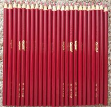 Lot of 24 Crayola Red Colored Coloring Pencils New Unused