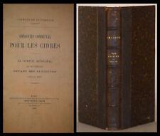 PLAQUETTES XIXe : CIDRES (ROUPERROUX - SARTHE) - OCTROIS PARIS - IMPÔTS BOISSONS