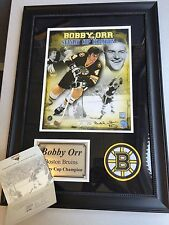 Bobby Orr Signed Stanley Cup Champions Limited Edition Autographed 8x10 GNR COA!