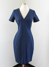 Banana Republic Roland Mouret Blue Fitted Pencil Sheath Dress Size 4 Career
