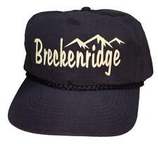 Breckenridge Colorado Black Snapback Nylon Boardwalk Hat Cap Ski Snowboard