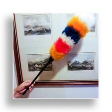Two ( 2 ) rainbow colours lambswool janitor duster plastic handle 60cm economy