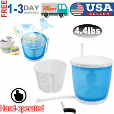 4.4lbs Portable Mini Spin Dryer Compact Washing Machine for Dorm Home US STOCK