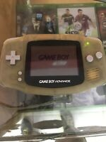 NINTENDO GAMEBOY ADVANCE (AGB-001) GLACIER CLEAR  + 3 games  + Case And Charger