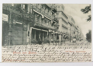 AK Berlin Café Bauer Hopfenblüte und Weinhandlung Ed. Aime gelaufen 1900