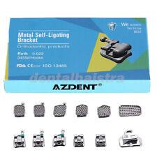 AZDENT Dental Orthodontic Brackets Self Ligating Roth.022 Hooks 345 &Buccal Tube