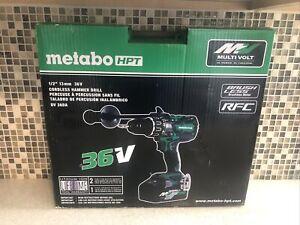 Metabo HPT (Hitachi) DV36DA MultiVolt 36 Volt Hammer Drill w 2 Batteries 36v New