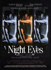 NIGHT EYES__Original 1990 Trade AD promo / poster__TANYA ROBERTS__ANDREW STEVENS
