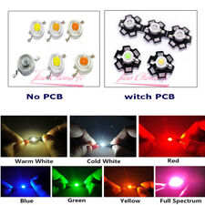 50 шт. 3 Вт ватт высокой мощности Smd LED Cob чип лампы бусины, белый, красный, синий, с печатной платы