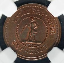 1861-65 Knickerbocker Currency One Cent Civil War Token F-255/393a NGC MS 65 BN