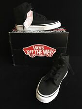 Vans 106 HI Black True White Canvas Sneakers Boys 3.5M  Men Women 5M New  $