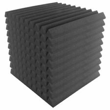 10pk 50x50cm Wedge Sound Foam Acoustic Treatment Panels Studio Tiles