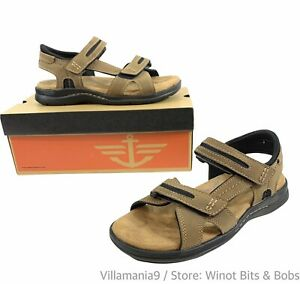 Men's Dockers, Solano Sandal Memory Foam Size 8 M Dark Tan 90-30052