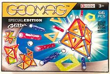 Geomag Glitter Special Edition Magnetic Construction 66 Pc Set New Kids Toy Gift
