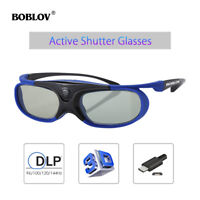BOBLOV JX-30 3D Active Shutter Glasses DLP-Link For BenQ W1070 W700 W710ST