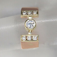 Ring mit ca. 0,30ct W-si Brillant in 585/14K Gelb-/Rotgold