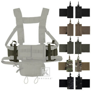 KRYDEX Tactical Kit Radio Pouch Expander Wings Set for Armor Carrier Chest Rig