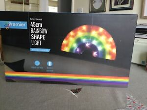 TWO 45cm Rainbow Shaped Lights. Battery Operated. New
