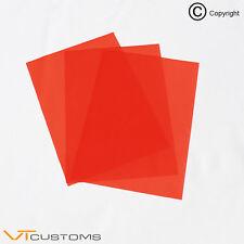 3 x FOGLI A5 ROSSO PER FARI colorazione Film per fendinebbia FUMO vinile Car Wrap