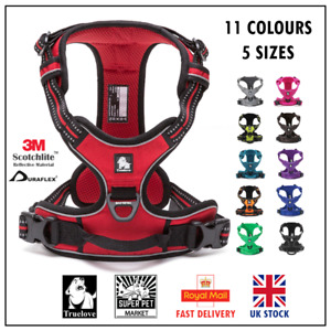 Dog Harness Truelove True love No-Pull Adjustable Red Brown Purple  XS S M L XL