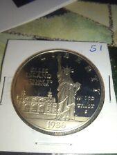 Ellis Island Silver Dollar Uncirculated Proof 1986-S San Francisco Mint