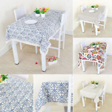 Homescapes Solid Pattern Rectangular Tablecloths