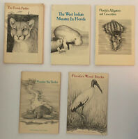 5 Vintage Booklets Florida Power and Light Company- Manatee, Croc, Turtle, Stork