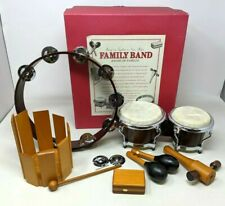 Vtg Restoration Hardware Family Band Musical Instruments Set Drum Shakers Gz20