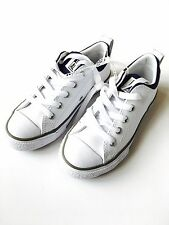 Converse Chuck Taylor All Star Street OX White Leather Youth Shoes, Size 11 NEW!