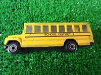 Vintage 1985 Matchbox Yellow School Bus School District 2 1:95 Scale