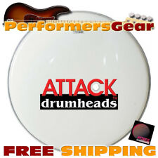 "Attack SW22 22"" 1-Ply Smooth White Marching Bass Percussion Drum Head"