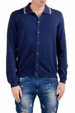 Malo Men's Blue Cashmere Cardigan Light Sweater US M IT 50