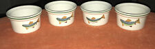 Iden Pottery Rye Sussex Trout Ramekins X4 RARE