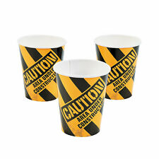 Construction Zone Paper Cups - Party Supplies - 8 Pieces